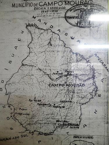 Território do município de Campo Mourão no fim da década de 1940
