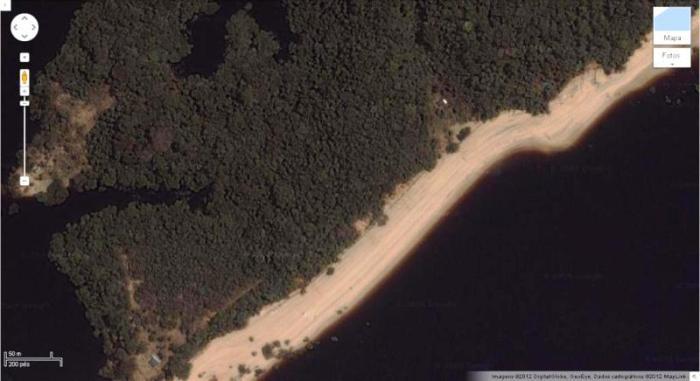 FIGURA 03 - Paisagem característica da Amazônia, localizada próximo de  Manaus- AM